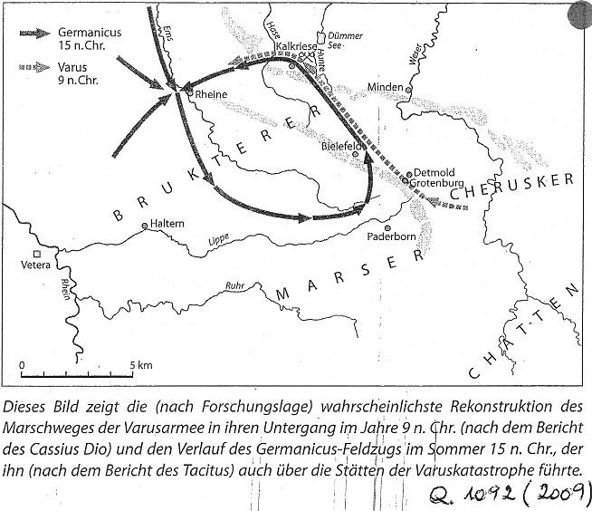 Die Varusniederlage Bei Tacitus Florus Und Paterculus